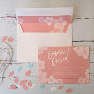 A floral style wedding invitation