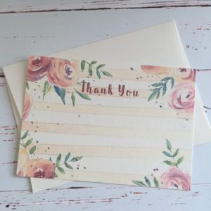 Thank you cards in a floral style