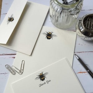 Thank you cards with a Bumble Bee illustration