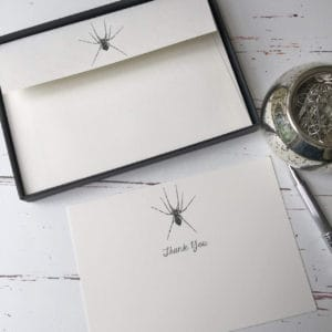 Thank you cards with a Spider illustration