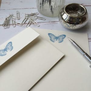 Writing paper with a Butterfly illustration