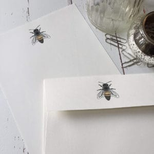 Writing Paper gift set with Honey Bee illustration