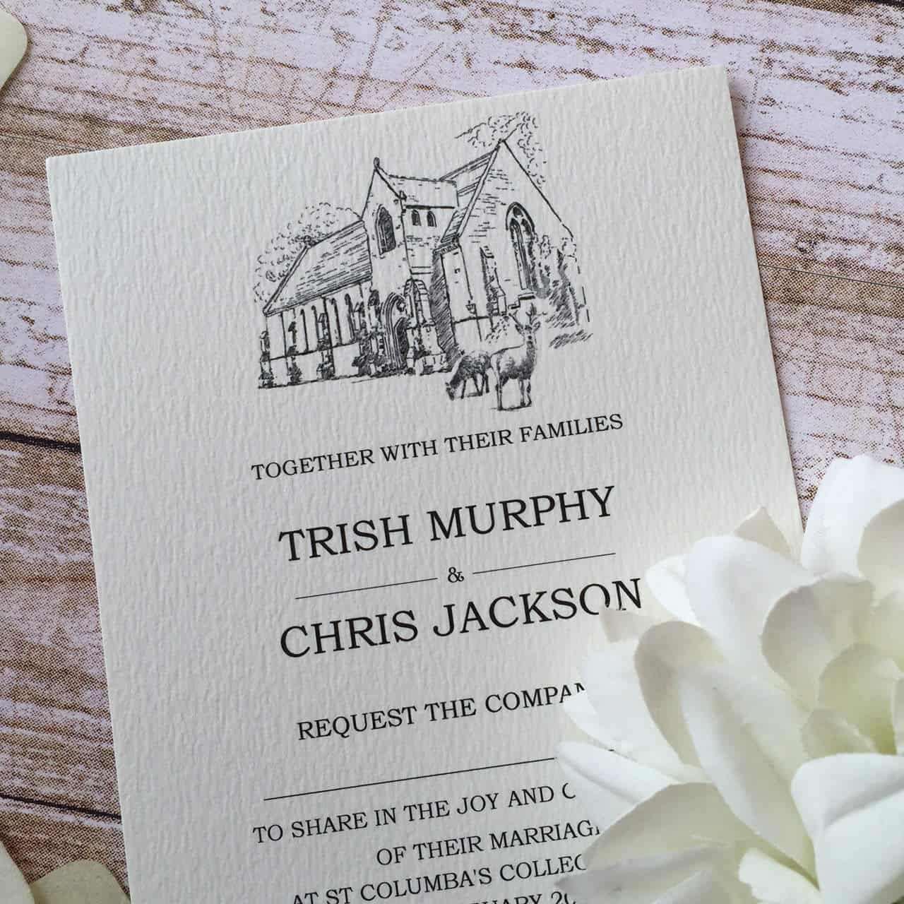 Bespoke Wedding Invitations: Bespoke Illustrated Wedding Invitations