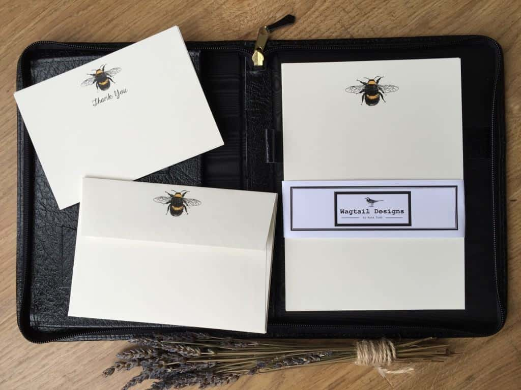 matching envelopes Personalised Luxury A5 writing paper Flowers 10 sheets
