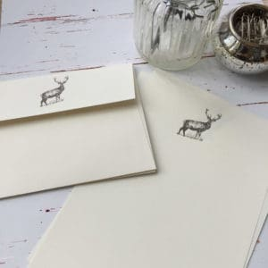 Writing paper gift set with a Deer/Stag illustration