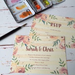 A rose style wedding invitation
