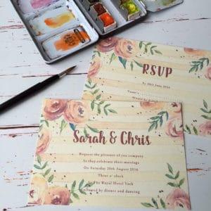 A rose style wedding invitation