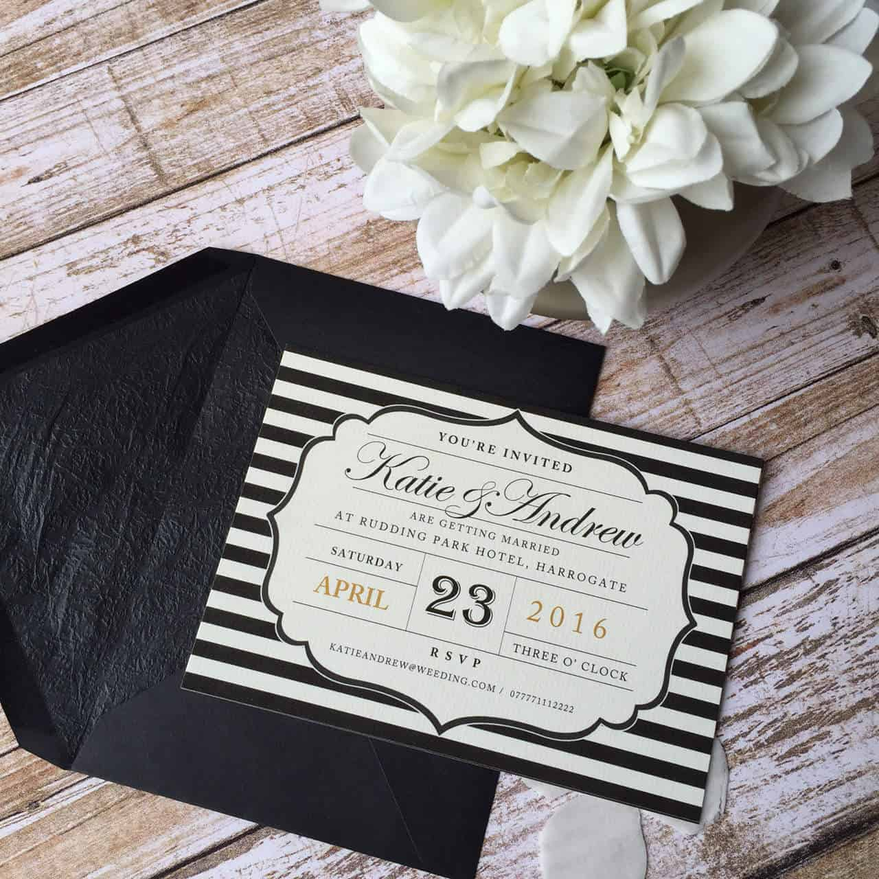 Postcard Style Wedding Invitations |