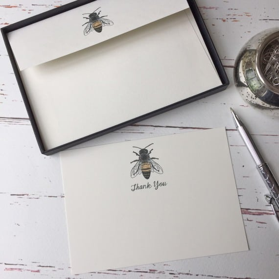 Thank you cards with a Honey Bee illustration