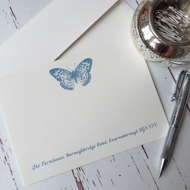 Correspondence Cards with a Butterfly design