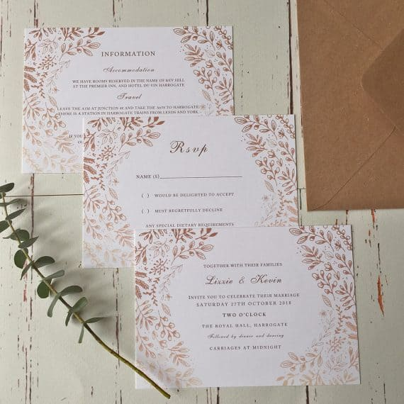 Rustic Harvest Invites