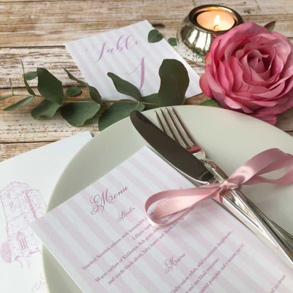 personalised menu wagtail designs
