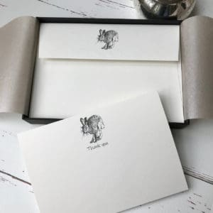 Hare thank you cards